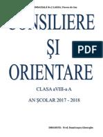 Planificare Dirigentie Cl VIII a 2017 - 2018