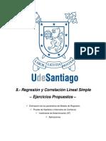 TAPA Regresión y Correlación Lineal Simple – Ejercicios Propuestos