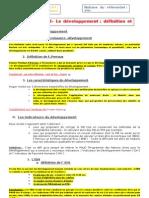 fiche 3 à 5 du chapitre croissance et développement 2010-2011