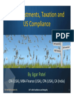 NRI Investments, Taxation and US Compliance - Mr Jigar Patel_ 2014-01-20