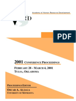 AHRD 2001 Conference