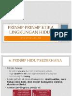Prinsip-prinsip Etika Lingkungan Hidup