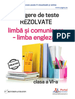 Culegere Clasa AVIa Limba Comunicare Romana Engleza