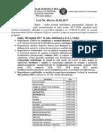 Nota ISJ 436 din 24.08.2017