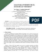 Estrategias Para Introducir El Contexto de Lo Impreso Mª Luisa Go-mez y Candela Imberno-n