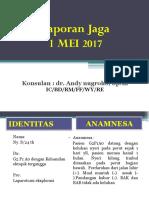Laporan Jaga KET 1-05-17