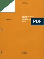 GC33-5378-1 Operators Library DOS vs Operating Procedures Rel 29 Nov73