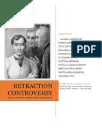 Rizal Retraction Controversy Docx