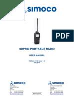 Manual Simoco SDp660