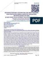 DECISION SUPPORT SYSTEM FOR THE BEST TEACHER ELECTION WITH SIMPLE ADDITIVE WEIGHTING METHOD BASED ON WEB  (CASE STUDY ON AL-IJTIHAT VOCATIONAL SCHOOL)