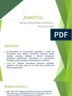 Geomatica-Definición y Reseña Historica- Proyecciones