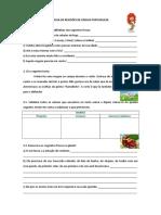 Ficha de Revisões de Língua Portuguesa II
