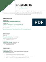 teaching resume updated 2018