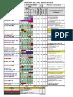 Calendarizacion Del Año Escolar JSBL-2018 Ccesa007