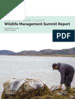 ICC Wildlife Management Summit Report