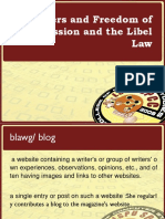 Bloggers and Freedom of Expression and t
