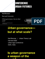 Urban Governance -but at What Scale