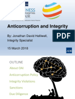 3. Anticorruption & Integrity_Jonathan Helliwell_OAI Presentation 6 March 2018