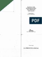 Quivy, R.; Van Campenhoudt, L. Manual de Investigación en Ciencias Sociales. La Pregunta Inicial