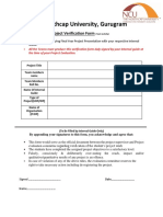 Project Verification Form NCU