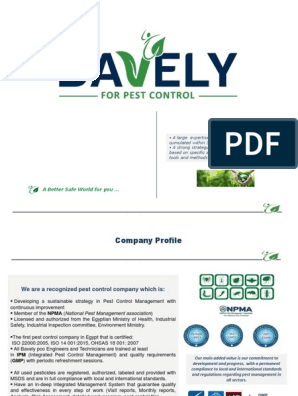 Company Profile (Portfolio) pdf | Pest Control | Business