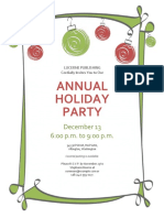Holiday party invitation with red and green ornaments.docx