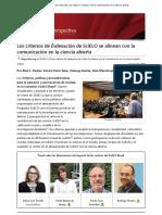 Los Criterios de Indexación de SciELO Se Alinean Con La Comunicación en La Ciencia Abierta