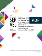 Manual de Gasto Electoral Elecciones 2017
