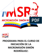MMSR CURSO INTRODUCTORIO