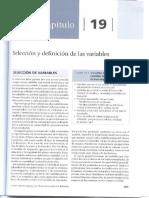 Capítulo 19, Selección y Definición de Las Variables