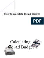 How to Calculate the advertising Budget