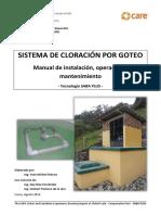Manual de Instalación, Operación y Seguimiento de Sistema de Cloración Por Goteo SABA Plus - Versión 2