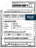 Metacognition Sheet 2016