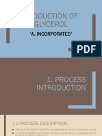 Glycerol production from palm oil