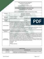 Informe Programa de Formación Complementaria Basico Administrativo