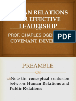 Human Relations for Effective Leadership