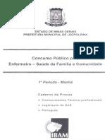 Ibam 2010 Prefeitura de Leopoldina Mg Enfermeiro Saude Da Familia e Comunidade Prova