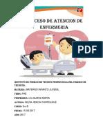 PAE Apendicitis 1 (proceso de atención de enfermería