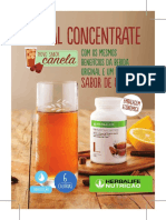 Mini Folheto Herbal Concentrate Sabor Canela
