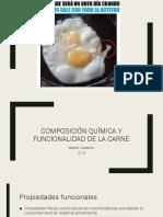 Composición Química y Funcionalidad de La Carne