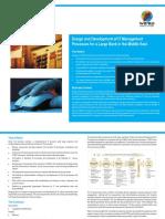 Design Development It Management Processes Large Bank Middle East