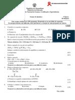 Enunciado Química 1ªÉp. 10ªclas 2013