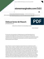 Deleuze Lector de Masoch _ Reflexiones Marginales