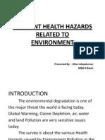 Releveant Health Hazards - Ullas Udayakumar MBA B Batch
