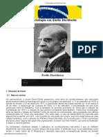 A Sociologia Em Émile Durkheim