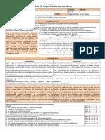 3M PSU 201 Guía 6. Organización de Las Ideas (3p)
