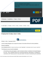 Employment & Labour Law in India