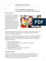 Early Childhood Environments