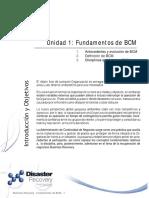 Unidad 1 - Fundamentos de BCM