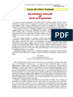 1. Corso Di Critica Testuale2s - Prof. Renato de Zan